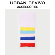 URBAN REVIVO2020 Autumn New Products Youth Women's Accessories Color Striped Sca