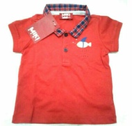 Baju baby boy new Padini miki red fish 0 - 3 month