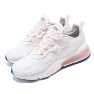 【NIKE 耐吉】休閒鞋 Air Max 270 React 男鞋 輕量 舒適 避震 氣墊 球鞋 穿搭 推薦 白 粉(AO4971-100)