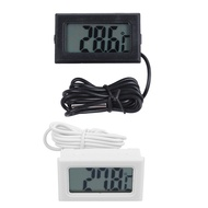 2 Pcs Digital Thermometer LCD Refrigerator Freezer Fridge Digital Thermometer - Black & White