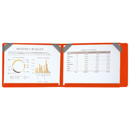 【SN°OVAE】跨頁圖表資料夾 / 橘色