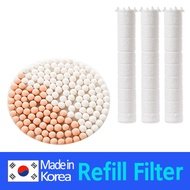 [DEWBELL]Refill filter and Ceramic ball for shower head/Remove rust Residual chlorine