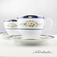 【NORITAKE】英倫花園金邊咖啡對杯