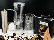Cold Brew ชุดทำกาแฟสกัดเย็น กระดาษกรอง ช้อนตวงกาแฟ เครื่องบดกาแฟมือหมุน เมล็ดกาแฟคั่วกลาง 500g.