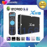 BEST Smart Android TV Box 2020 X96h ทีวีกล่อง Android 9.0 ALLWINNER H603 6K สนับสนุน 2xhd RAM 4G/ ROM32G BT 4.0 & 5G WiFi 6K