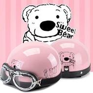 卡通小孩子電動摩托車兒童頭盔灰親子母女童冬季車安全帽史努比盔