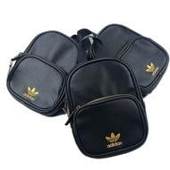 Adidas Mini 限定金標 皮革 迷你 小包 小後背包 女用背包 細肩帶 容量大 外出用 皮革紋 閨密款 美國帶購