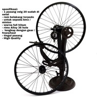 Rims Alloy Brake Torpedo Bicycle Bmx 20 Inches Front And Rear 1 Set + Freewhel 18 T