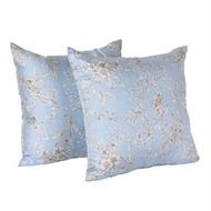 CASA 100%天絲布套抱枕2入 45 x 45 公分 - 墨竹藍