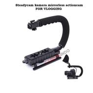 Steadycam VLOG video camera stablizer for mirrorless actioncam