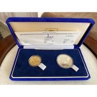 1989 Malaysia Asia Tenggara Ke-15 Silver Proof Coin 25 Ringgit and 5 Ringgit 2 in1