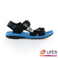 【LOTTO】童 流行織帶涼鞋(黑-LT9AKS0260)