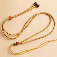 ราคาพิเศษ如意绳สามารถปรับได้ความยาวโซ่เสื้อกันหนาวเชือกสำหรับชายและหญิงหยกทองหยกจี้สร้อยคอเชือกแขวน