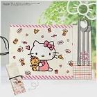 Hello Kitty 304不鏽鋼隨身餐具4件組-經典米白
