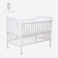 【L.A. Baby】密西根三合一嬰兒大床(白色)