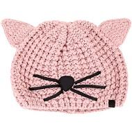 過年不打烊 KARL LAGERFELD Choupette 貓咪造型粗針織毛帽(粉色)