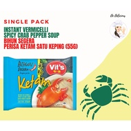 maggi noodle.noodle.pan mee (Ready Stock)SINGLE PACK /Vits Instant Vermicelli Spicy Pepper Vegetarian or Crab 55g /Bihun