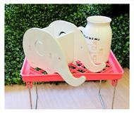 【aife life】 瀝水置物盤(小)/多用途廚房辦公桌面化妝台浴室廁所置物架/多層疊高摺疊置物架/雜物整理收納架