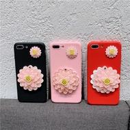 【免運】三星2018版a5/a7小清新花朵鏡子c8網紅女c10軟套j7max情侶手機殼