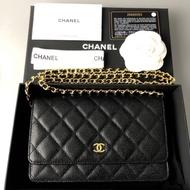 Chanel woc hi-end origi 1:1  20 cm งานหนังแท้ตารางตรง งานเทียบตัดเย้บ
