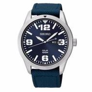 Seiko Men's Blue Dial Blue Nylon Strap Solar Watch SNE329