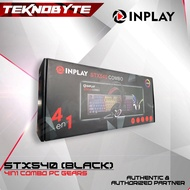 INPLAY STX540 Black Combo Gaming Keyboard Mouse Headset and gaming Mousepad
