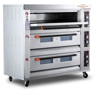 Automatic 3 Deck 9 Trays Gas Deck Oven 225 W Model Name/Number: Mpg-3d-9t