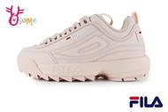 FILA DISRUPTOR 2 鋸齒鞋 韓版 成人女款 復古老爹鞋 厚底運動鞋 D9937#粉紅◆OSOME奧森鞋業