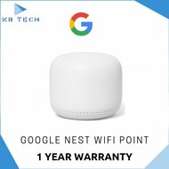 [Authorised Partner] Google Nest WiFi Point - 1 Year Warranty Comes with 3pin plug (SG Safety Mark)