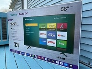 Hisense Roku TV 58 Inch R43B7120UK 4K Ultra HD HDR Freeview Smart LED TV
