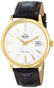 Orient Mens FER24003W0 Bambino Stainless Steel Watch with Brown Band