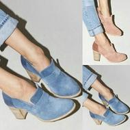 shoes wish lazada big yards thick high heel shoes women fashion sexy high-heeled shoes round suede