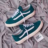 Vans Old Skool絨面革綠色白色