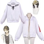 Tokyo Revengers Hanemiya Kazutora Cosplay Costumes White Coat Valhalla Uniform Baseball Coat Mikey Draken Halloween Kids Adults