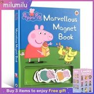 หมูเป็ปป้าเดิมเด็กหนังสือยอดนิยมมหัศจรรย์หนังสือแม่เหล็กสติกเกอร์เต่าทองสมุดกระดานเขียนBook Coloringภาษาอังกฤษกิจกรรมหนังสือนิทานสำหรับเด็ก