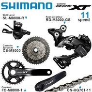 SHIMANO DEORE XT M8000 Groupset 1x11v 11Speed RD SL CS CN FC M8000 Rear Derailleur Crankset Cassette
