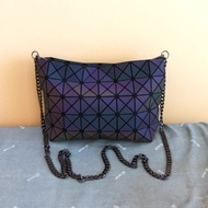 Matte Black Luminous Issey Miyake BAOBAO Rhombic Geometric Sling Bag / Clutch