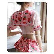 可愛草莓~性感學生制服套裝《H3080》【性感之夜】