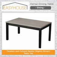 Dense Dining Table   Dining   Timeless and Cultural Marble (slightly brown) Table Top