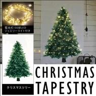 【聖誕樹掛布套裝組】  松樹掛毯 聖誕佈置 聖誕節掛布壁飾 裝飾布 背景布【狂麥市集】