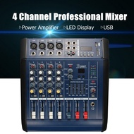 Ezitech 4 Channel Powered Mixing Console Dj Audio Mixer PM4100 Amplifier Microphone For Karaoke System