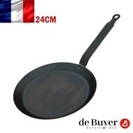 法國【de Buyer 】畢耶鍋具『輕礦藍鐵系列』法式可麗餅鍋24cm