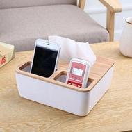 【Mega收納】北歐極簡木質紙巾盒 抽紙盒 面紙盒 遙控器收納