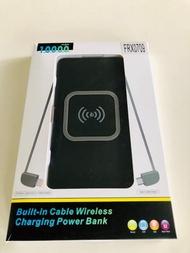 Powerbank Ultra Slim Design, Light weight and compact, Qi wireless charging, Portable Power bank 10000mAH