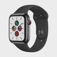 APPLE Watch Series 5 GPS+Cellular (44mm, Space Black Stainless Steel Case, Black Sport Band)