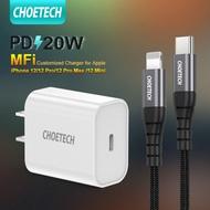 [CHOETECH] สายชาร์จไอโฟน PD 20W /18W สายชาร์จ type c to lightning 30W For Apple MFi Certified สายชาร์จไอโฟน,MFI Charging Cable,For iPhone 12/12 Pro/12 Pro Max/iPhone 11/11 Pro /11Pro Max / X/XS/XR/SE 2020/iPad Pro 2018