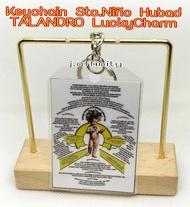 LuckyCharm Keychain Sto.Niño Hubad Talandro with Red Pouch