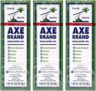 Axe Brand Medicated Oil, 1.89 fl. oz. Pack of 3, USA Version by Solstice