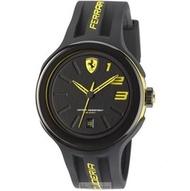 2016新款法拉利手錶時尚精品錶FXX款,編號:830221,黑色錶面黑色矽膠錶帶款