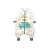 呼西貝嬰兒睡袋純棉兒童連體睡衣寶寶防踢被大童加厚分腿睡袋